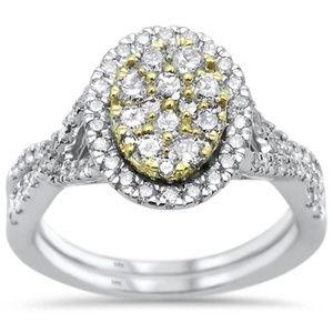 white gold diamond  engagement  wedding ring